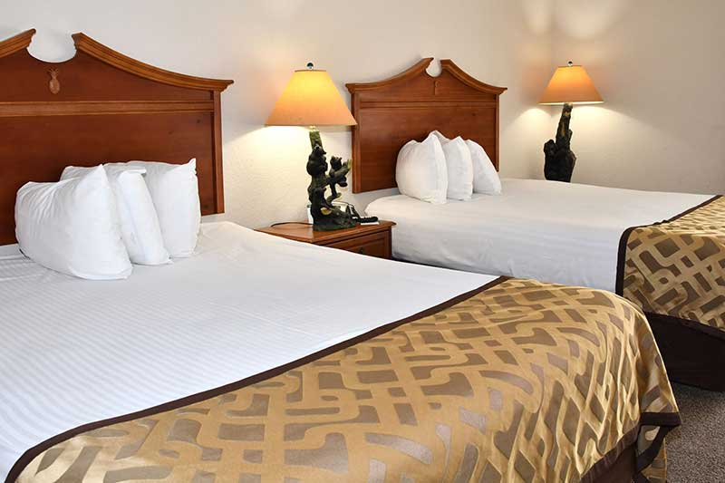 two comfortable beds at Reagan Inn hotel in Gatlinburg