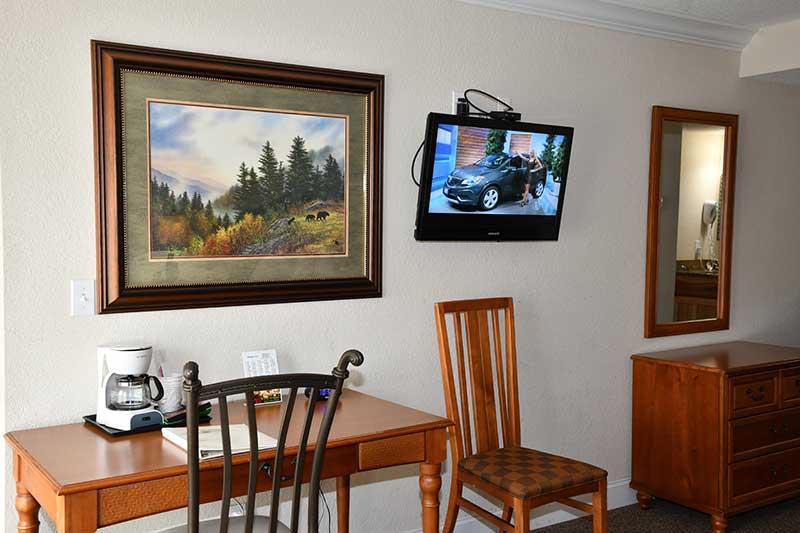 room amenities at Reagin Inn Gatlinburg hotel