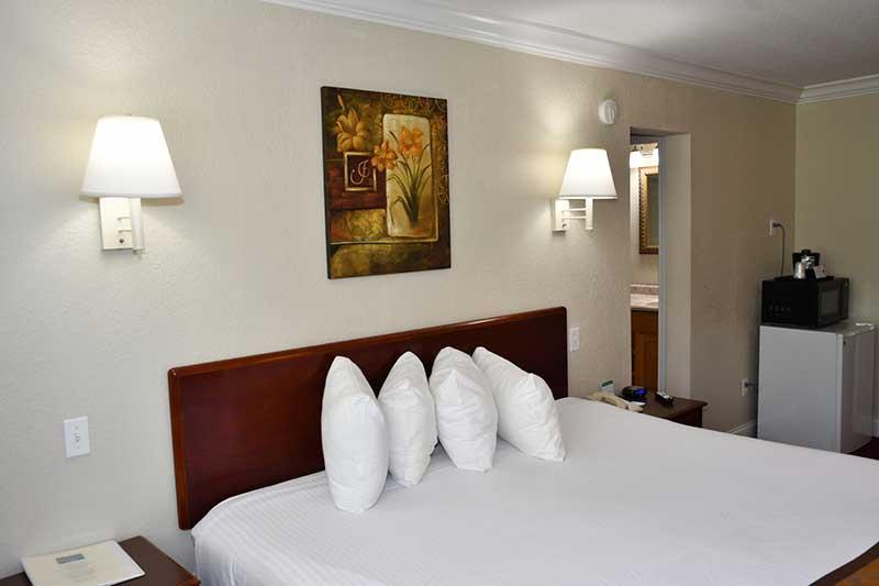 King bed in Gatlinburg hotel Reagan Inn